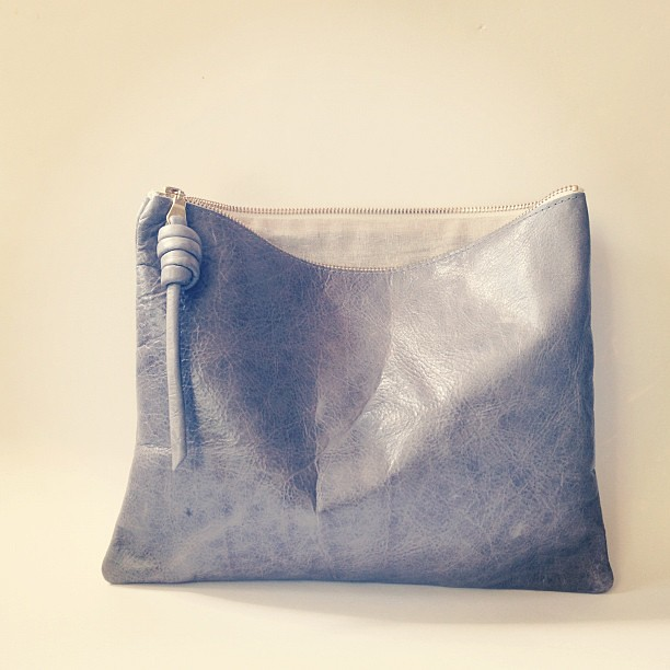 Grey pouch