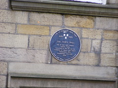 Photo of Town Wall, Newcastle black plaque