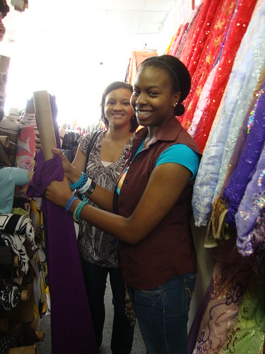 Vanessa and Whitney at Gail K Fabrics
