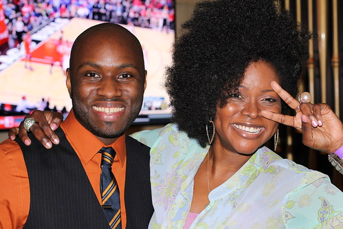 Anslem Samuel & Abiola Abrams at Black Enterprise Magazine 40/40 Party