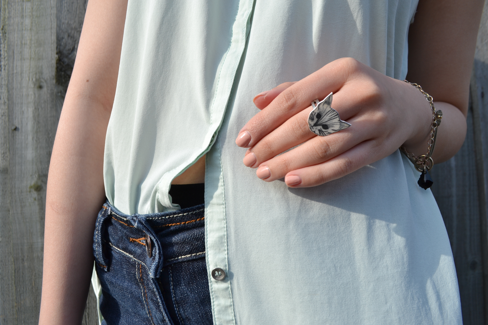 daisybutter - UK Style Blog: what i wore, high street fashion, zara, diy, mint green, denim shorts