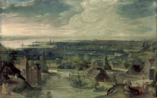 Hans Bol - River Landscape [1578] by Gandalf's Gallery
