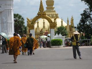 Walk up to Great Sacred Stupa