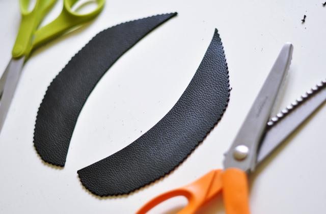 leather peter pan collar diy-pattern-pinking