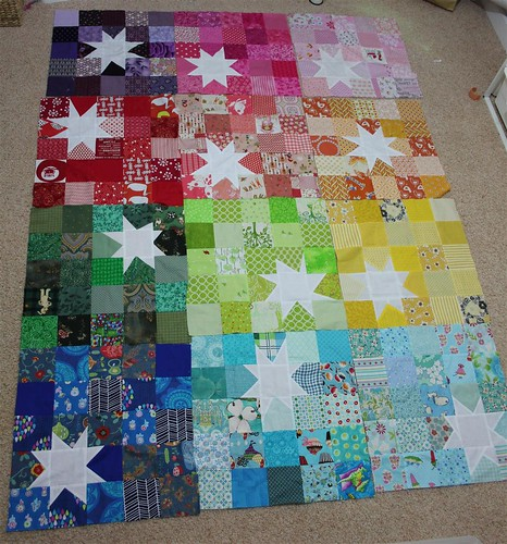 YAY all my reverse rainbow starburst blocks are here!!