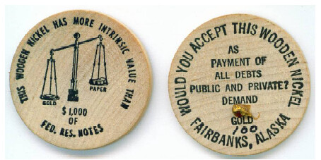 Alaska wooden nickel
