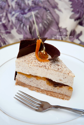 Hazelnut praline, yuzu cheesecake