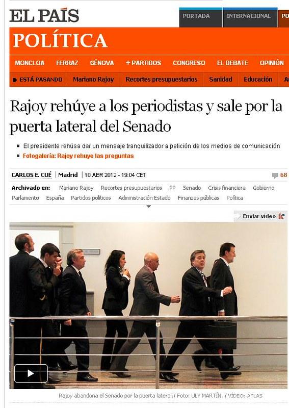 Rajoy en El Pais