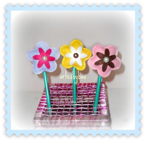 Ponteiras flores by artesbybax - Carmen