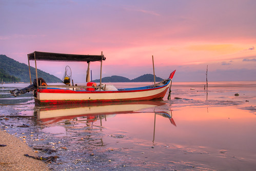 The Boat at Sunset by andruphotography