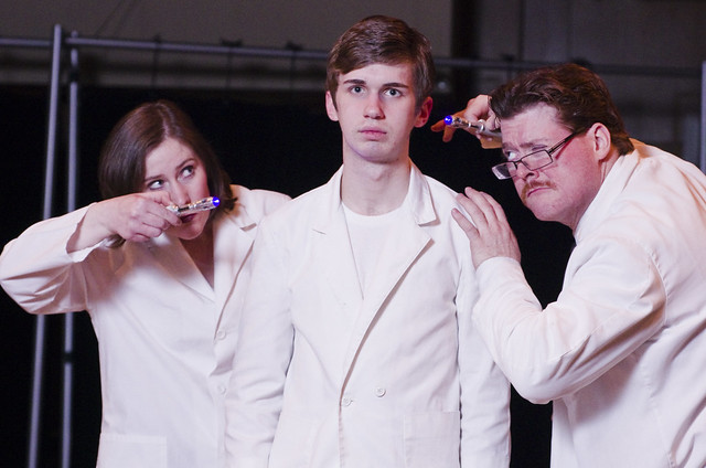 """Publicity still of Michelle Flowers, Dylan Zucati, and Lance Zielinski from the BLT production of """"The Who's Tommy"""", March, 2012."""