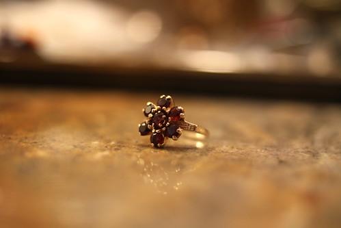 Grandma Zuhelke's Garnet Ring