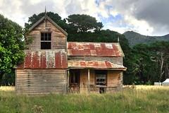 Old house, Cross Creek, Lake Wairarapa, Wellington, New Zealand.