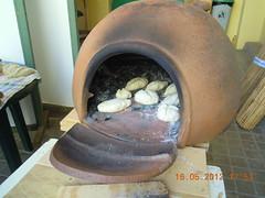 Horno barro - Merienda con pan