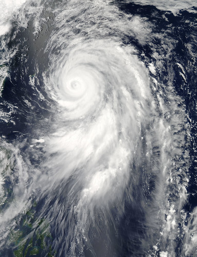 Typhoon Guchol Approaching Japan