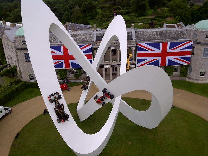 Lotus sculpture at Goodwood Festival of Speed