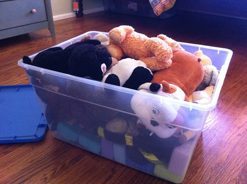 Box o' stuffed animals