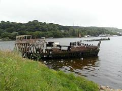 Old trawler on Hooe Lake