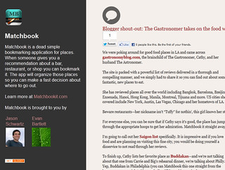 Blogger shout-out The Gastronomer takes on the food world  Matchbook