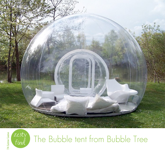 {zesty find} bubble tent