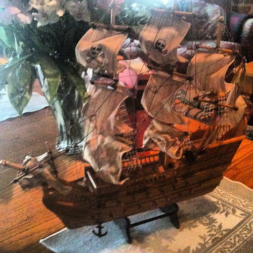 Pirate ship - garage sale find by Chris and Kadi