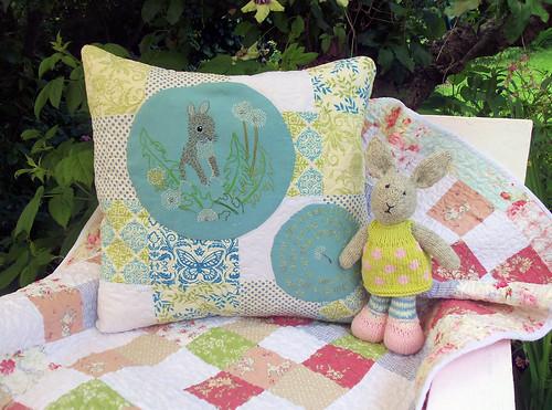 Dandelion Bunny Embroidery (3)