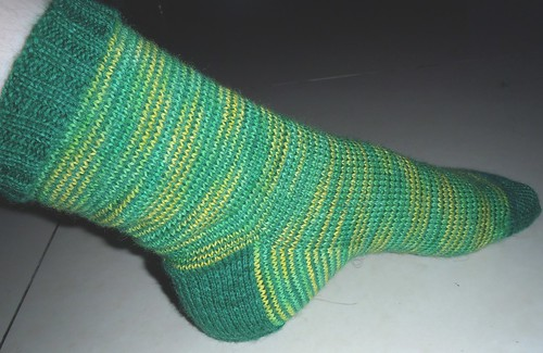green and yellow sock 2 by hallucygenia
