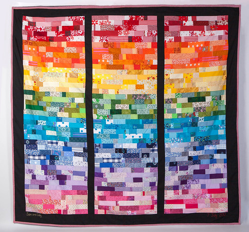 Rainbow wedding quilt