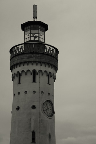 The Lindau light house on the morning of our trip to Minau..