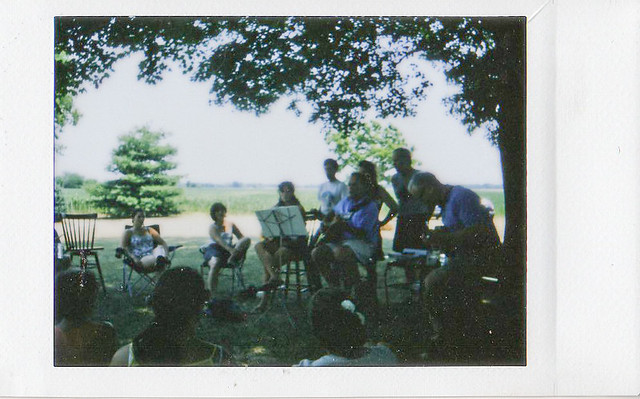 Instax: Backyard Wedding