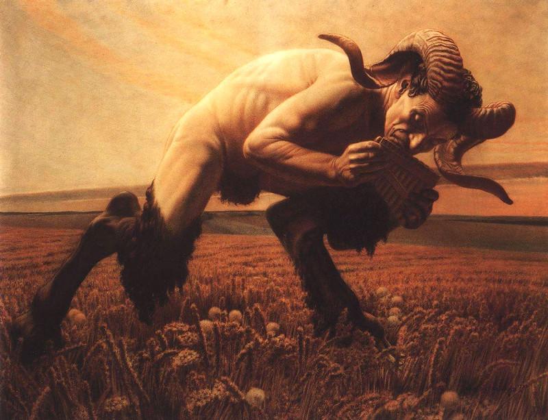 Carlos Schwabe - Le Faune, 1923