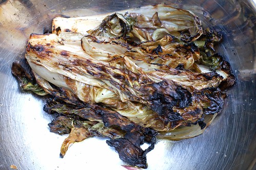The grilled radicchio resting by Eve Fox, Garden of Eating blog, copyright 2012