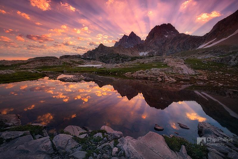 Teton Tarn Sunrise by Chip Phillips, on Flickr