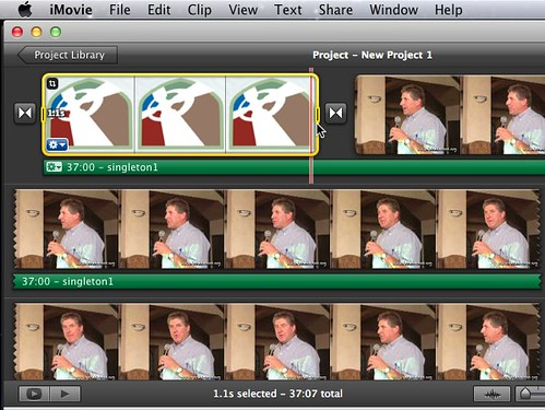 1.1 second offset in iMovie