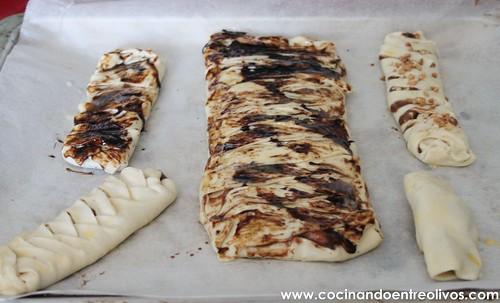 Trenzas hojaldradas de chocolate y plátano (11)
