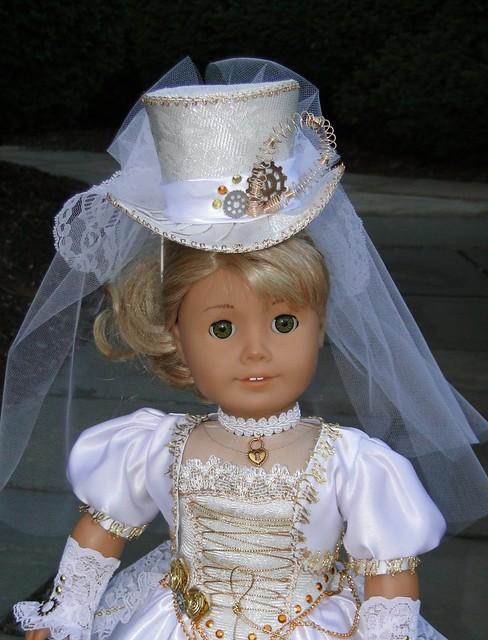 Steampunk victorian wedding dress for american girl or for American girl wedding dress
