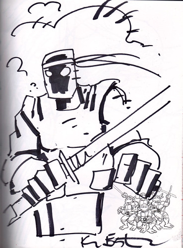 """DRAW TOKKA A FOOT SOLDIER n' MAYBE HE'LL SHUT UP"" by Kevin Eastman  (( 2012 ))"
