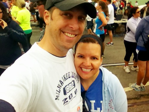 Cath and I before the Wharf-to-wharf race last weekend