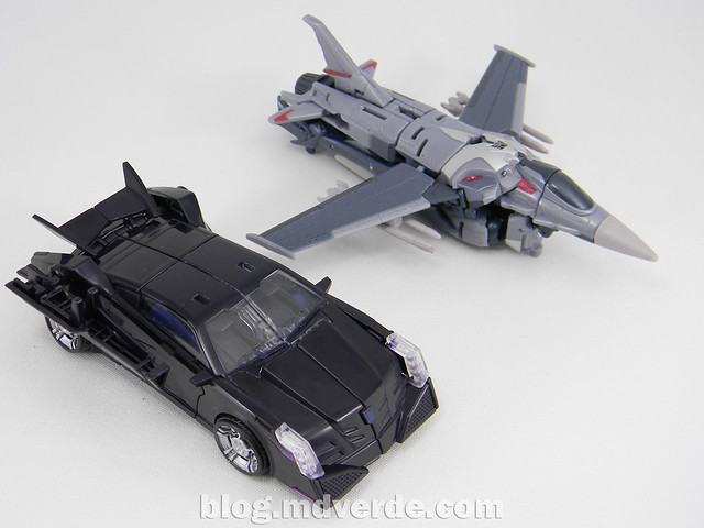 Transformers Vehicon Deluxe - Prime RID - modo alterno vs Starscream First Edition