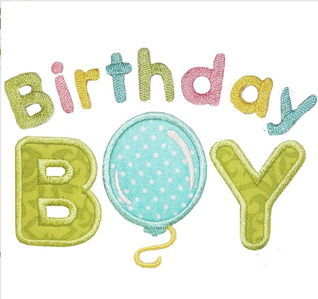 Birthday Boy applique