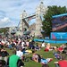 Tower Bridge and the Olympic screen