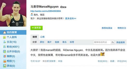 Marcel Nguyen 's weibo