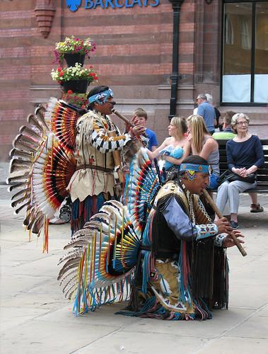 Peruvian musicians in York by Helen in Wales