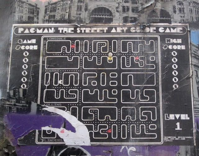 Pac-man: street art map