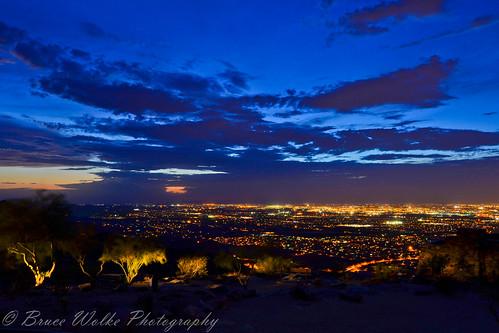 longexposure nightphotography sunset arizona night landscape lights nikon desert az downtownphoenix nikkor 2012 ariz southmountainpark d7k d7000 nikond7000 brucewolke