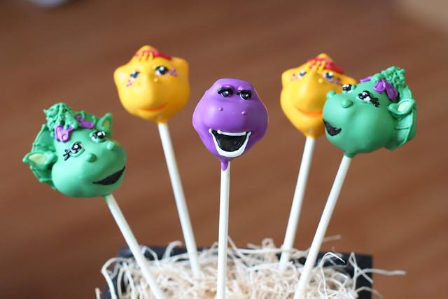 barney cake pops - photo #3
