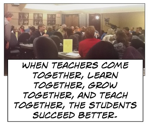 "Educational postcard:  "" Teachers work together"""