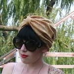 gold turban from etsy