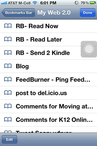 iPhone Readability Bookmarks
