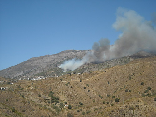 Fire in the nearby village